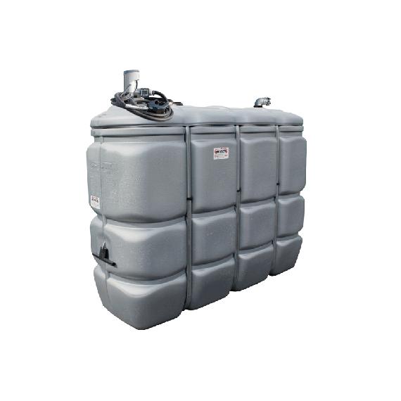 Geruchfreie doppelwandiger PEHD-Tankanlage für Treibstoff GRAU, 1000 Liter