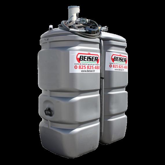 Geruchfreie doppelwandiger PEHD-Tankanlage, 750 Liter