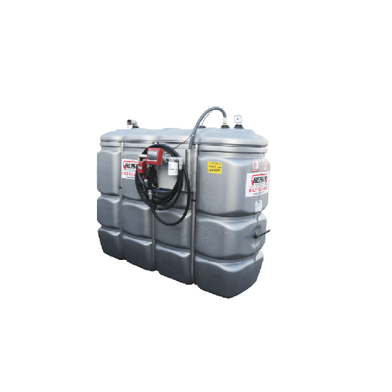 Doppelwandige Tankstation aus HDPE geruchlos 1 500 L - Modell Komfort