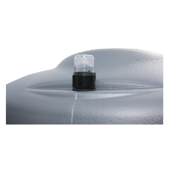 Geruchloser doppelwandiger PEHD-Tank für Treib-/Brennstoff, 2000 Liter - GRAU