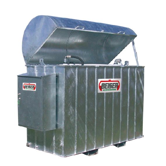 Platzsparende industrielle verzinkte Tankanlage 2500 Liter