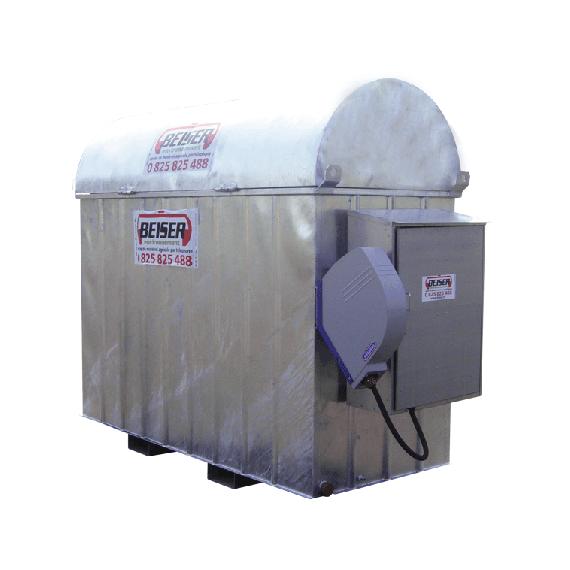 Verzinkte industrielle platzsparende 1000 l-Tankanlage mit Aufwickler für 8 m Schlauch
