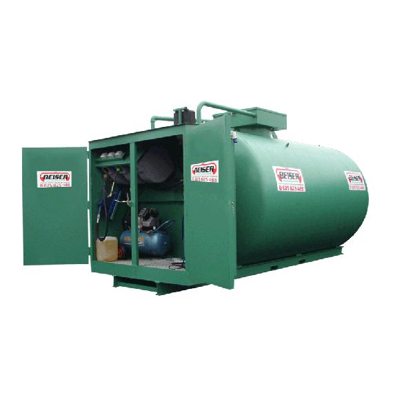 Doppelwandige 5000 L Diesel-Tankanlage aus Stahl, Neuste Norm 3. Generation