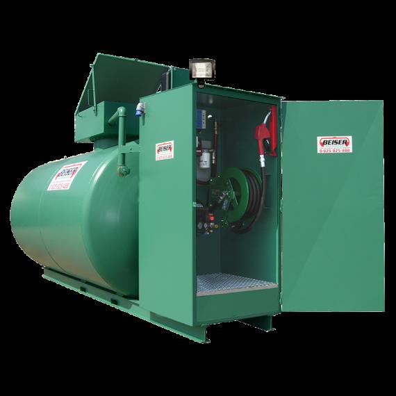 Doppelwandige 3000 L Diesel-Tankanlage aus Stahl, Neuste Norm 2. Generation