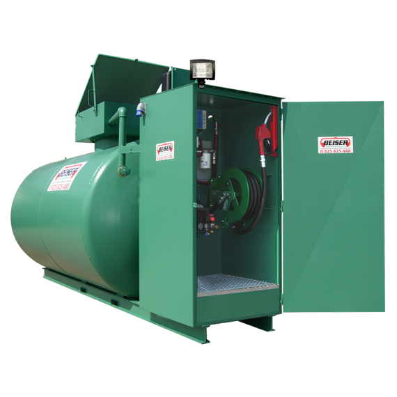 Doppelwandige 15000 L Diesel-Tankanlage aus Stahl, Neuste Norm 2. Generation