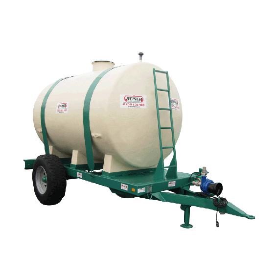 Polyestertank auf Fahrgestell, Fassungsvermögen 8000 Liter