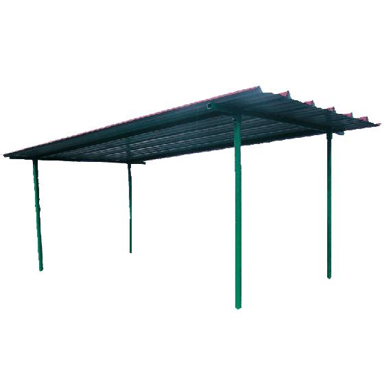 Trapezblechdach für industrielle Hoftankstelle 12 000 L