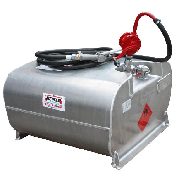 Transport Pack für Benzin aus Aluminium 250L mit Pumpe