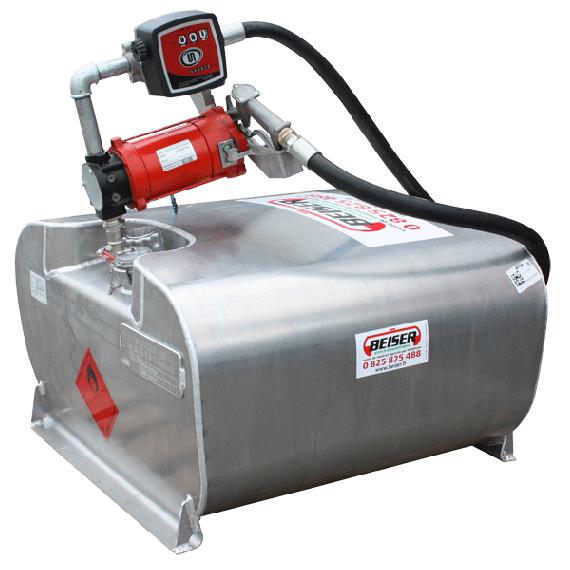 Transport Pack für Benzin 250 Liter mit 220 V Pumpe und Volumenzähler