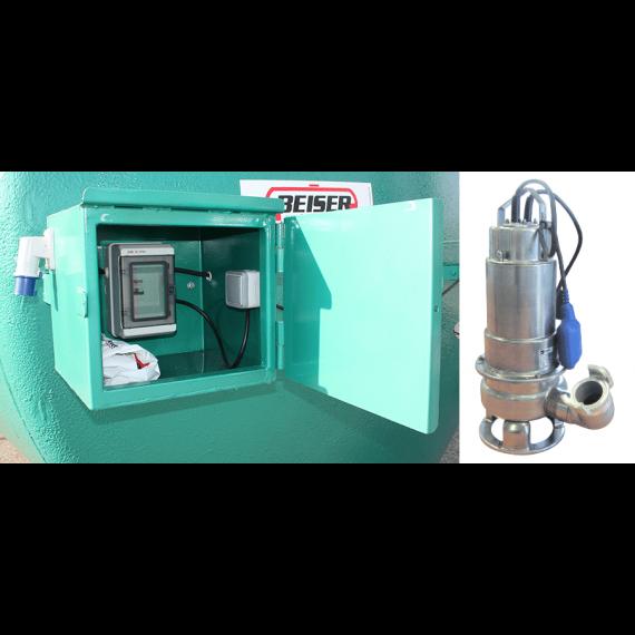 Tauchpumpe aus Edelstahl 220V 400L/min und Schrank
