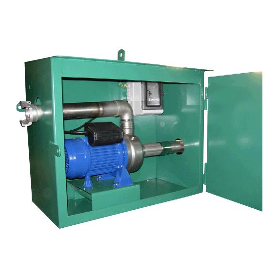 Schrank mit Drehstrom-Flüssigdüngerpumpe 380V aus rostfreiem Stahl