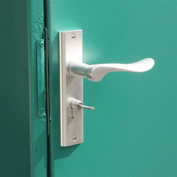 Fermeture avec serrure à clef pour station fuel NN2G