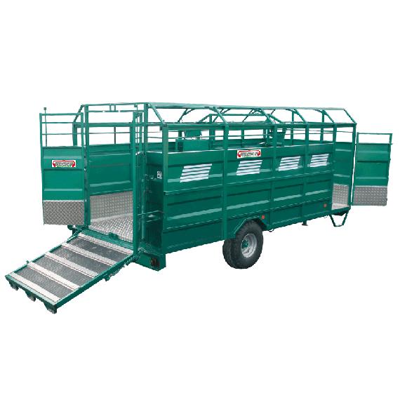STAHL-Viehtransporter mit Aluminiumboden, Länge 3,70 m, keine Optionen