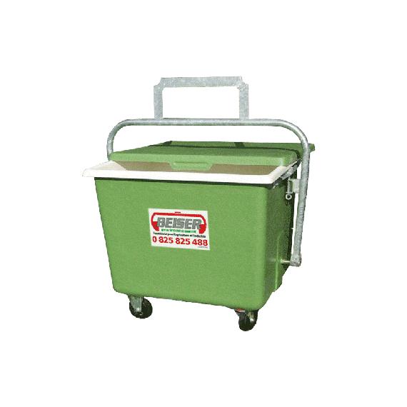 Polyester Entsorgungswagen 900 L