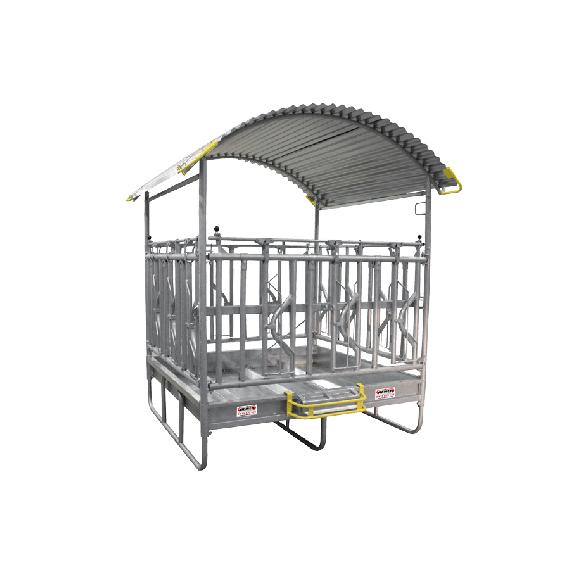 Gesichert Viereckraufe mit Fressgitter, 2 x 2 m, 12 Plätze