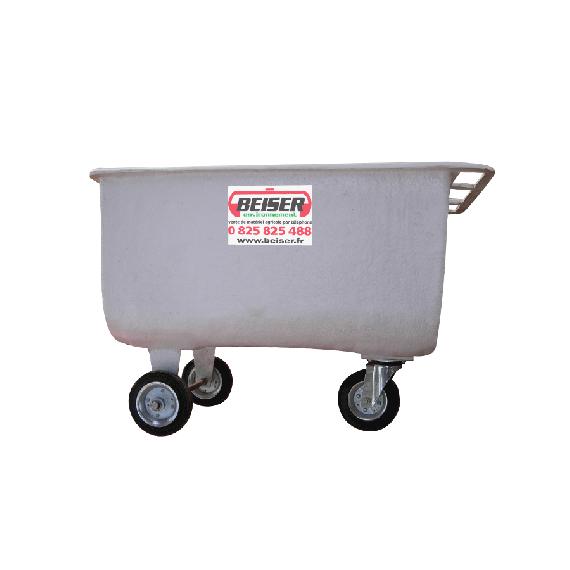 Futterwagen 150 L aus Polyester, 3 Räder