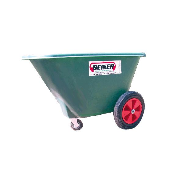 Futterwagen für Silo 220 l aus Polyethylen, 3 Räder