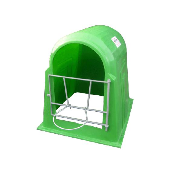 Kälberhütte Grün mit Eimerhalter