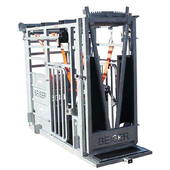 Fangstand (Halsfangtüre vorne + hintere Türe mit seitlicher Öffnung)