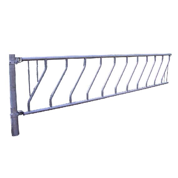 Freier Zugang mit Schräggitter 10 Plätze 5 meters