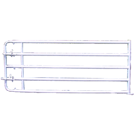 Verzinkt 5 Stangen Stallabtrennung 2/3 m, mit Riegel