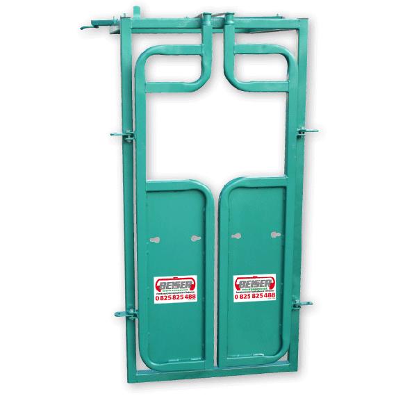 Hintertür mit Doppelflügeltüren für Befruchtung