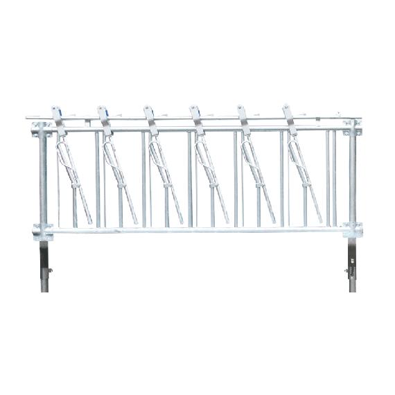 Selbstfangfressgitter für Ziegen 5 Plätze, 2 m