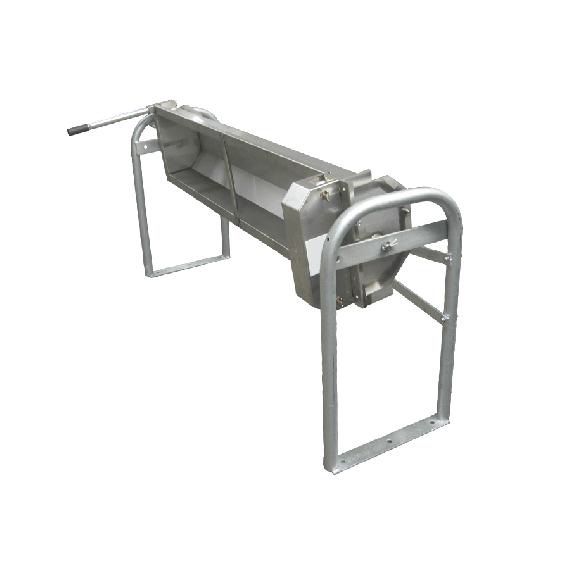 Kippbare 135 L Tränke aus rostfreiem Stahl, Bodenbefestigung