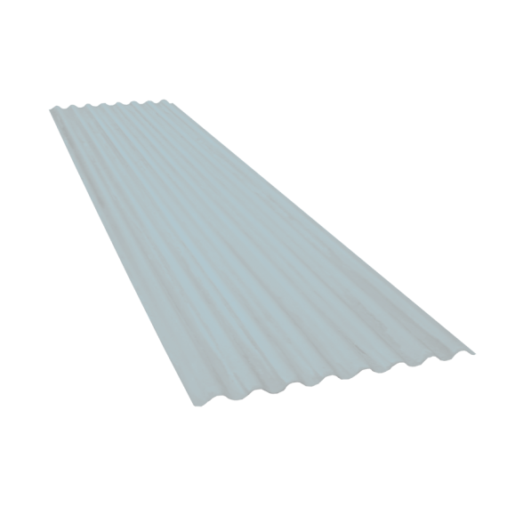 Wellblech 15 Wellen, Durchscheinend Polycarbonat, 76-18, 6,2 m