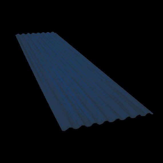 Wellblech 15 Wellen, Schieferblau RAL5008, Stärke 0,60, 8 m