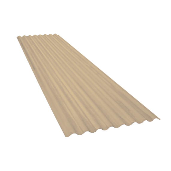 Wellblech 15 Wellen, Sandgelb RAL1015, Stärke 0,60, 3 m