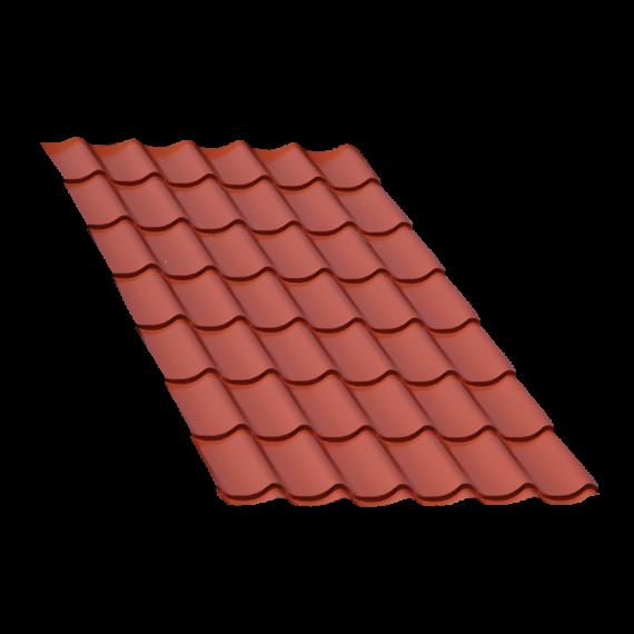Terrakotta Ziegelblechelement, 2 m