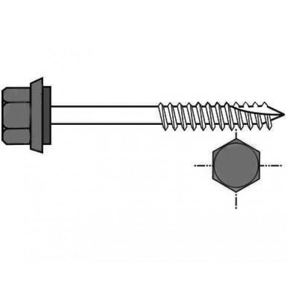 Selbstbohrschraube Holzstruktur für isoliertes Ziegelblech 60 mm, RAL 7016 Anthrazitgrau, A130, 100 Stück