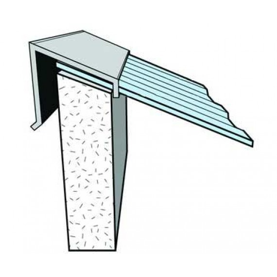 Firstabschluss an WAND, TERRAKOTTA 2 m, für ziegelförmiges Element