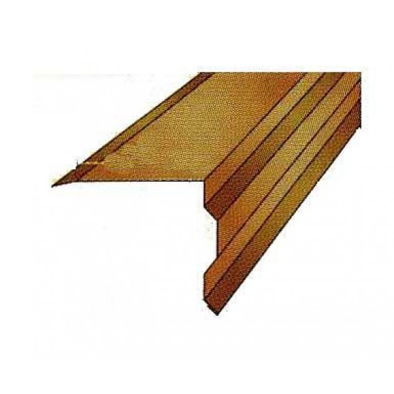 Abschlusskante 150, für ZIEGELBLECH ANTHRAZITGRAU 2 m