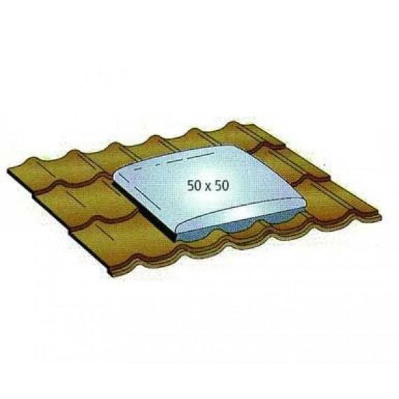EINGEBAUTES DACHFENSTER für ziegelförmiges Element 50 x 50 ANTHRAZIT