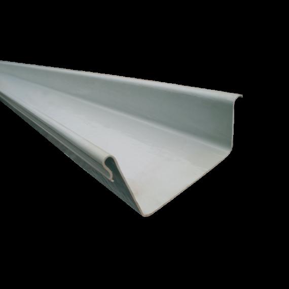 LINKES Endstück für POLYESTER-Dachrinne, 120mm