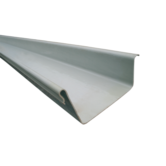 LINKES Endstück für POLYESTER-Dachrinne, 205mm