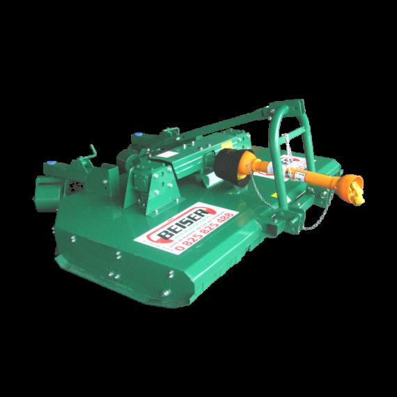 Mulchgerät - 2 rotors - 8 Messer - Breite 3,00 m mit 2 Getrieben mit hydraulischer Klappbetätigung