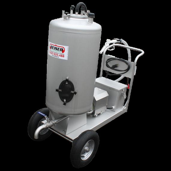 Milchwagen 130L Edelstahl mit 12V Verteiler Durchzatz 40 L / min
