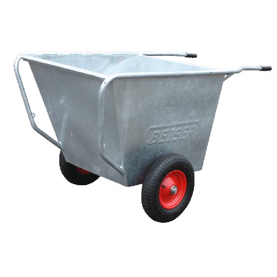 Verzinkte Schubkarre 300 liter