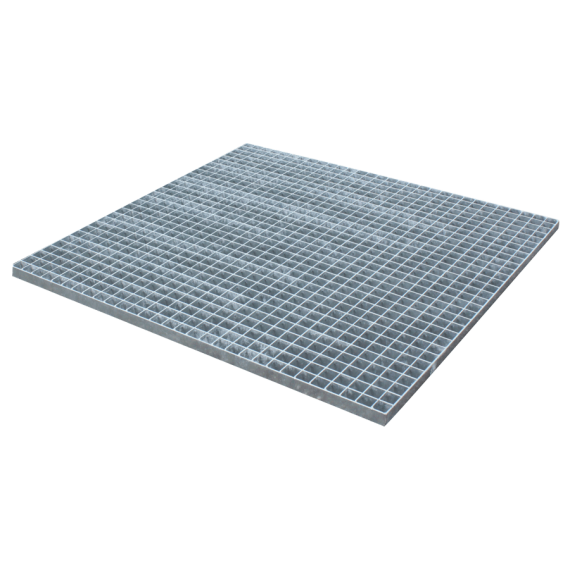 Gepresstes und verzinktes Gitterrost - 1000 x 1000 - Maschenweite 30 x 30 flacher Rand