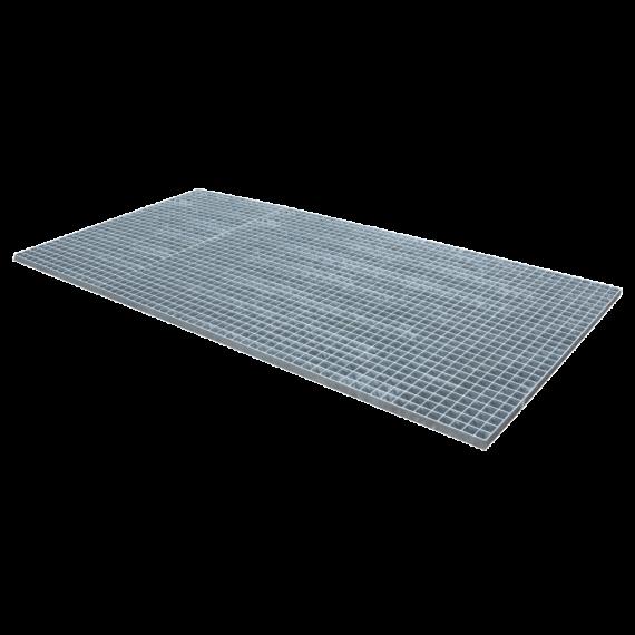 Gepresstes und verzinktes Gitterrost - 2000 x 1000 - Maschenweite 30 x 30 flacher Rand