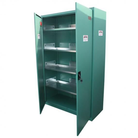 Grüner Sicherheitsschrank - Set 1950 x 930 x 500 mm