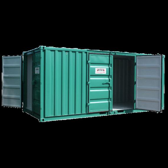 Lagercontainer - Modell LC 20, 32 m3, mit Seiten- und Hintertür