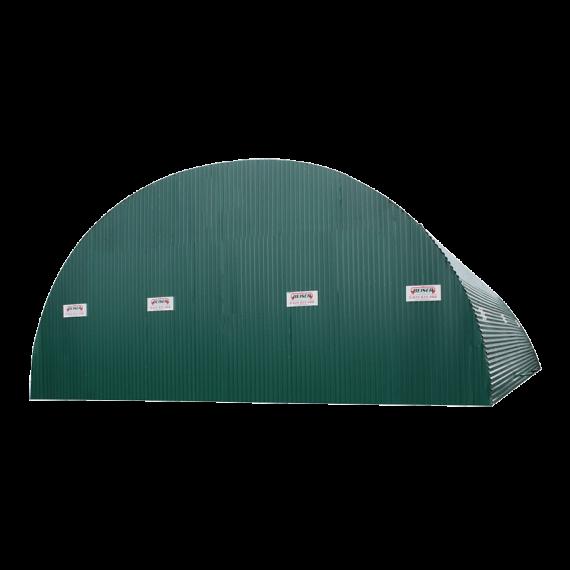 Geschlossene Struktur für Lagertunnel aus Wellblech