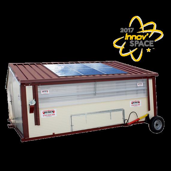 Hühnerstall bewegliches Gebäude im Kit baut, verzinkt, mit Hydraulisches Hebesystem 30 m2
