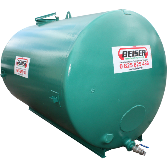 Hochwertiger Stahltank 8000 liter rekonditioniert auf Hilfsrahmen