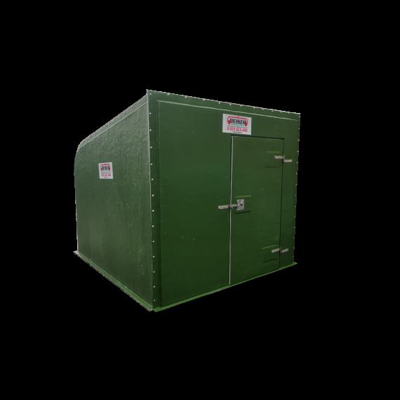 Polyester Box mit Texas-gatter 3 m und PVC Gitterrost