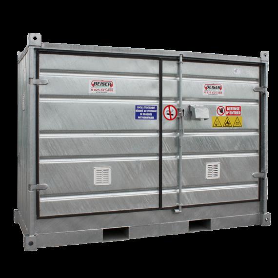 """Isoliertier lagercontainer """"sicherheit + """", Low, 2 Paletten"""